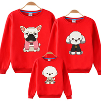 Spring and Autumn 2018 Cartoon Puppy Sylvanian Families Outfits Mother and Daughter Family Clothing Cute Mommy and Me Sweater