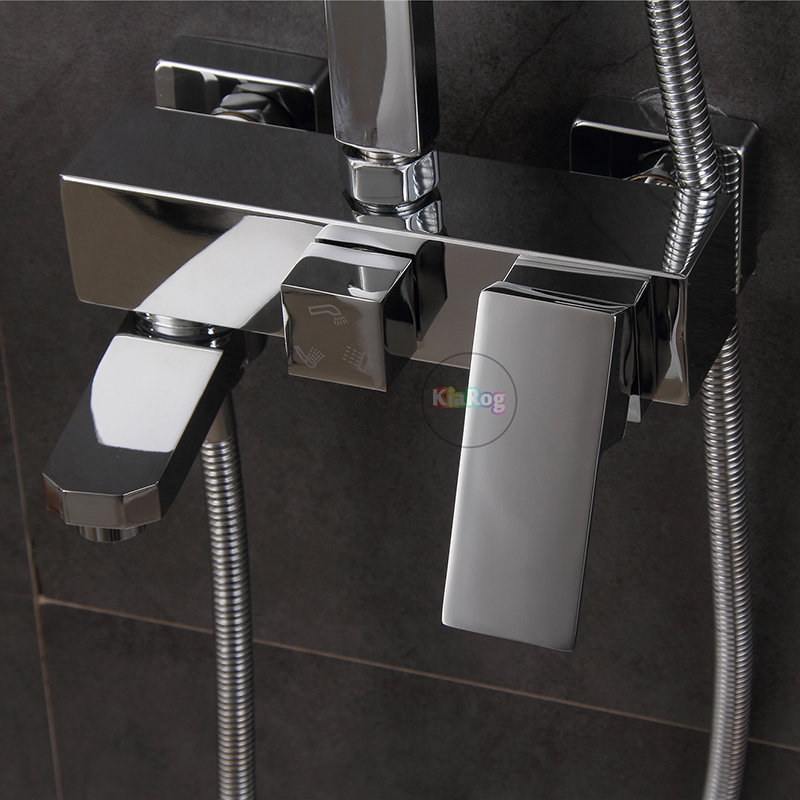 Shower Faucet.3 Functions Shower Mixer.Wall Mounted Bathtub Mixing Valve Faucet Mixer Tap.Bathroom Mixer Tap Chrome FinishedShower Faucet.3 Functions Shower Mixer.Wall Mounted Bathtub Mixing Valve Faucet Mixer Tap.Bathroom Mixer Tap Chrome Finished