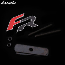 Стайлинг автомобиля FR металлические Передние наклейки для сидений leon FR + Cupra Ibiza Altea Exeo формула аксессуары для гоночных автомобилей