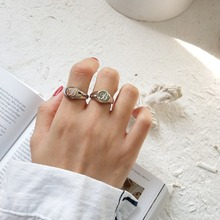 Amaiyllis  925 Sterling Silver Letter B Open Ring Female Personality Index Simple Jewelry Accept customization