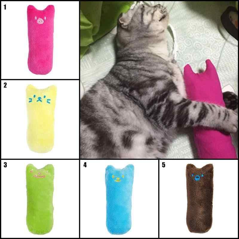 재미 있은 상호 작용하는 미친 고양이 장난감 애완 동물 고양이 씹는 장난감 치아 Catnip 장난감 발톱 연삭 고양이 고양이 장난감에 대한 엄지 손가락 물린 고양이 민트