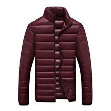 Jacket Men Ultralight Wadded  Outerwear Mens Casual Down Cotton  Jackets Winter Atumn Spring Coat Parkas 8XL Big yards