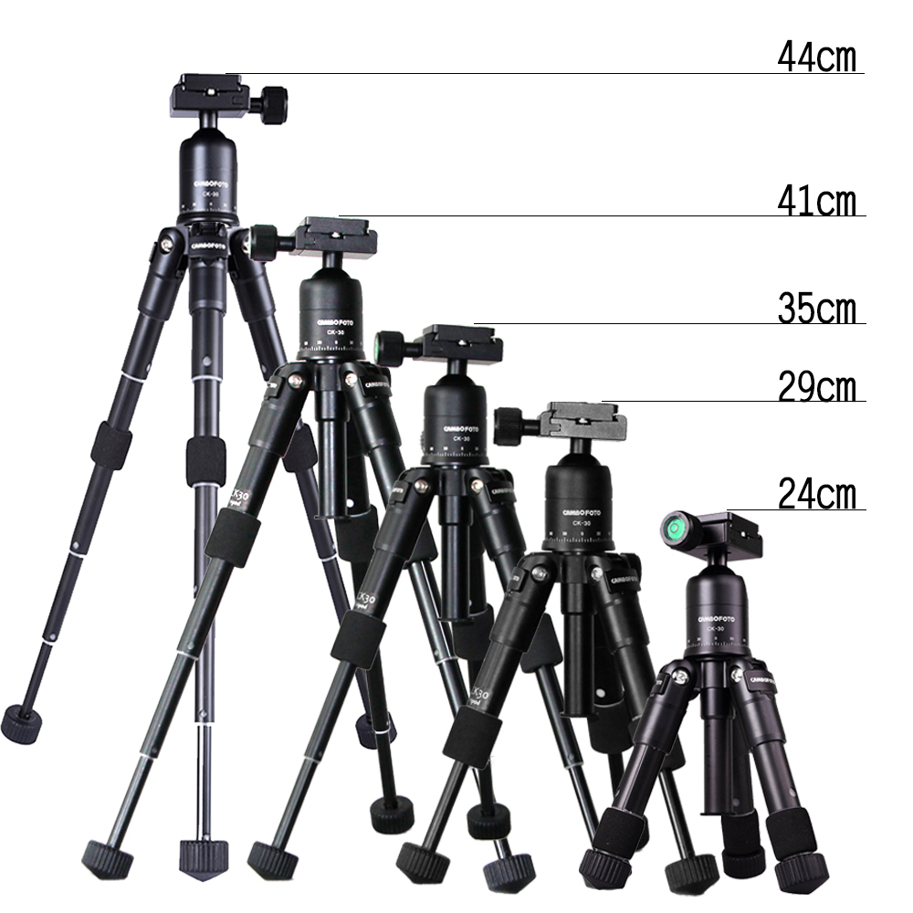 CAMBOFOTO M225+CK30 Portable Aluminum Tripod Compact Desktop Macro Mini Table Tripod with Ball Head for Sony Canon Nikon Camera mefoto a0320q00 aluminum alloy mini camera tripod portable desktop tripod stand support steady hold camera with tripod head