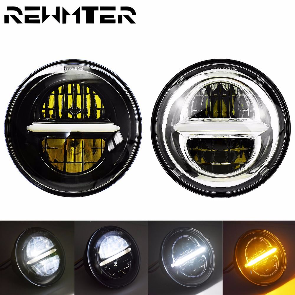 """5.75"""" Motorcycle Led Headlight Daytime Running Light For Harley Sportsters XL Dyna FXD Softail For Victory For Triumph"""