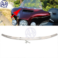 for Harley Touring FLHT Electra Glide Street Glide CVO 2014 17 Stainless Steel Motorcycle Slotted Batwing Windshield Trim Chrome