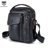 BULLCAPTAIN Genuine Leather Men Shoulder Crossbody Bags Cow Leather Fashion Handbag Brand Casual Men S Messenger