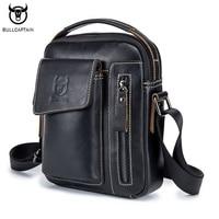 BULLCAPTAIN Genuine Leather Men Shoulder Crossbody Bags Cow Leather Fashion Handbag Brand Casual Men S Messenger
