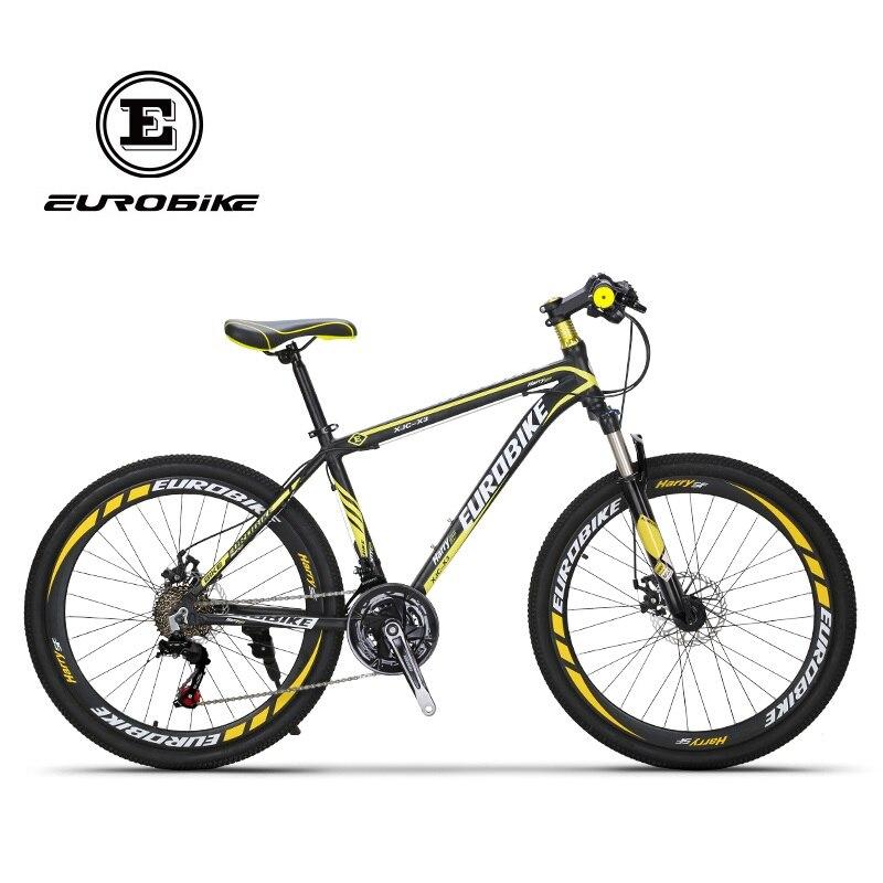 EUROBIKE 21 Speed Aluminum Mountain Bike Dual Disc Brake Mountain Bicycle