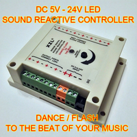 High Power 5-24 V Sound Reaktive digital LED-controller. Dance/-takt der ihre musik. Sound Licht für led-streifen