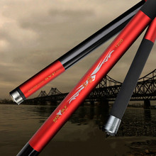 Long section 8M/9M/10M/11M/12M/13M Ultra-light  Hard Carbon Fishing  Pole Telescopic Hand Rod