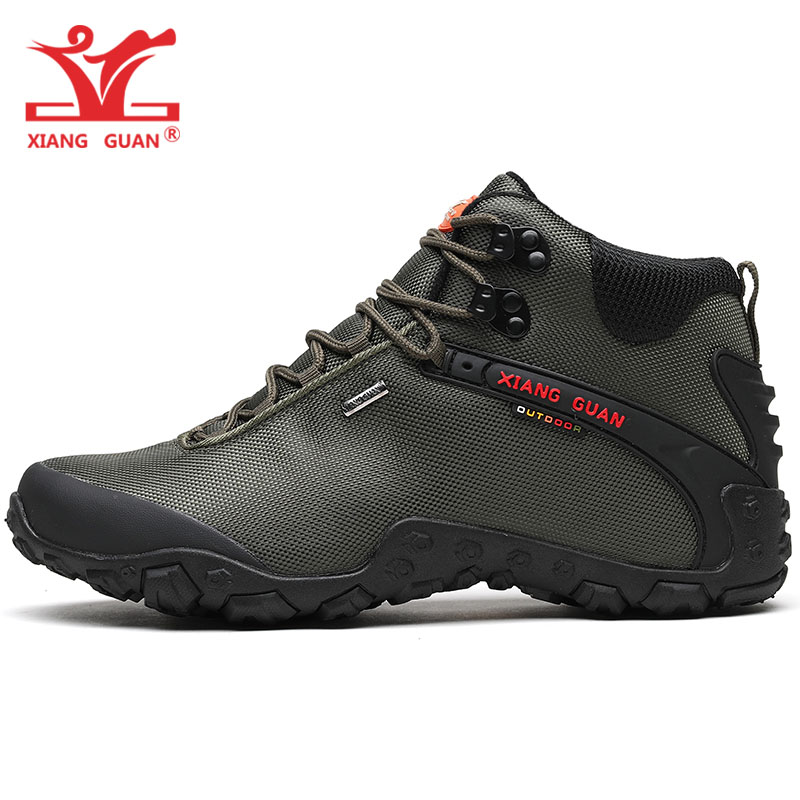 Men Hiking Shoes Women Army Green Trekking Boots Breathable Climbing Mountain Camping Outdoor Sports Hunting Walking