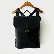 Винтажном стиле элегантное рюкзак женщины дизайнер искусственная кожа школа плечи сумка мягкий маленькие женщины Lesiure Bolsas Mochila Feminina