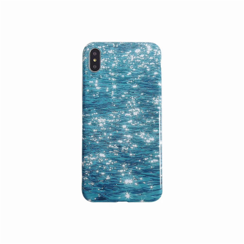 Soft TPU Phone Case Cover For iPhone XS Max XR 8 Plus Blue Water Ripple  Phone Case For iphone 8 7 6 6s plus X XR XS Max Fundas