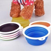 FD11 free shipping  pet bowls silicone Bowl pet folding portable dog bowls dog drinking water feed food bowl