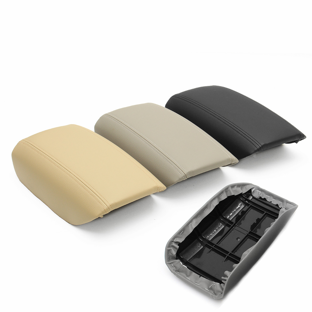 Car Armrest Cover Leather Center Console Lid For Volvo S80 1999-2006 Black Gray Beige center console armrest storage box elbow supporting for peugeot 2008 3008 1007 2006 2013 2014 2015 2016 2017 black gray beige