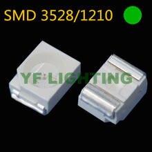 (Chipset de taiwan) 1210 diodo led verde puro smd led 3528 pacote 505-530nm 3.0-3.5 v