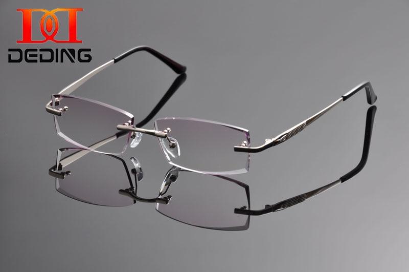 ᗗDeding 2016 sin montura de titanio anteojos ópticos Marcos titanio ...