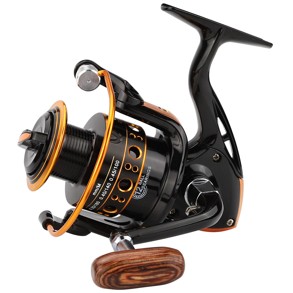 JACKFISH 12BB Spinning Angeln Reel Fishing Rad für Salzwasser Metall Spool Angelrollen carpa molinete de pesca angeln tackle