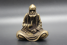 Exquisite Chinese  Bless Collectable Brass Amulet Patriarch Bodhidharma Statue