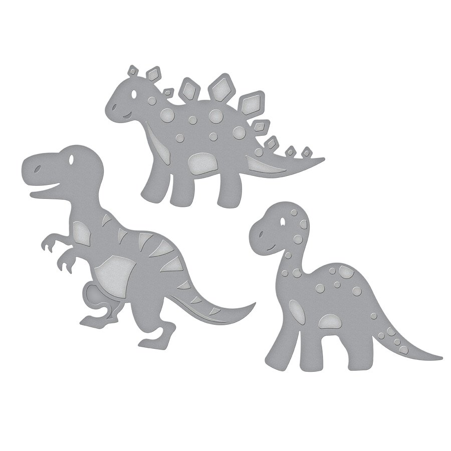 Intellective Baby Dinosaur Metal Cutting Dies Scrapbooking Craft Die Cut Create Emboss Paper Card Make Stencil Die Template 148*63mm Electronic Components & Supplies