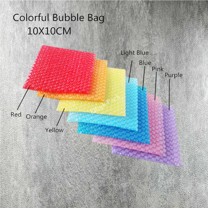 10*10cm (3.94*3.94') 50Pcs New Heart-shaped Bubble Bags Inflatable Bag Foam Wrap For Packing Material Gift Decoration