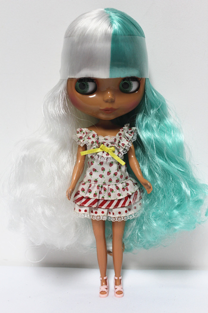 Free Shipping big discount RBL-121DIY Nude Blyth doll birthday gift for girl 4colour big eyes dolls with beautiful Hair cute toy big beautiful eyes косметический набор косметический набор big beautiful eyes
