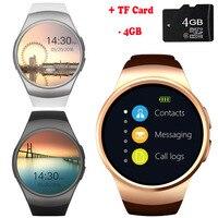 KW45 Bluetooth Inteligentny Telefon Zegarek Pełny Ekran Wsparcie TF Karty SIM Smartwatch Tętno dla Huawei Ascend P8 P8 Lite Kolega S 9 8 7