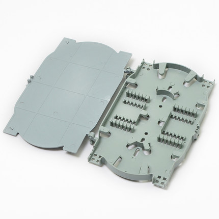 10 Pieces 24 Cords Optical Fiber Splice Tray FTTH Fusion Tray With Cover Used In Fiber Closure