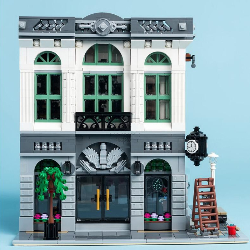 toys for children Creative Street View City Series brick 15001 City Bank Model Building Blocks Kits Brick Toy Compatible 10251 lepin 15018 3196pcs creator city series sunshine hotel model building kits brick toy compatible christmas gifts
