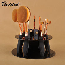 10 Hole Oval Makeup Brush Holder Dryer Rack Organizer Toothbrush Cosmetic Shelf Display Stand