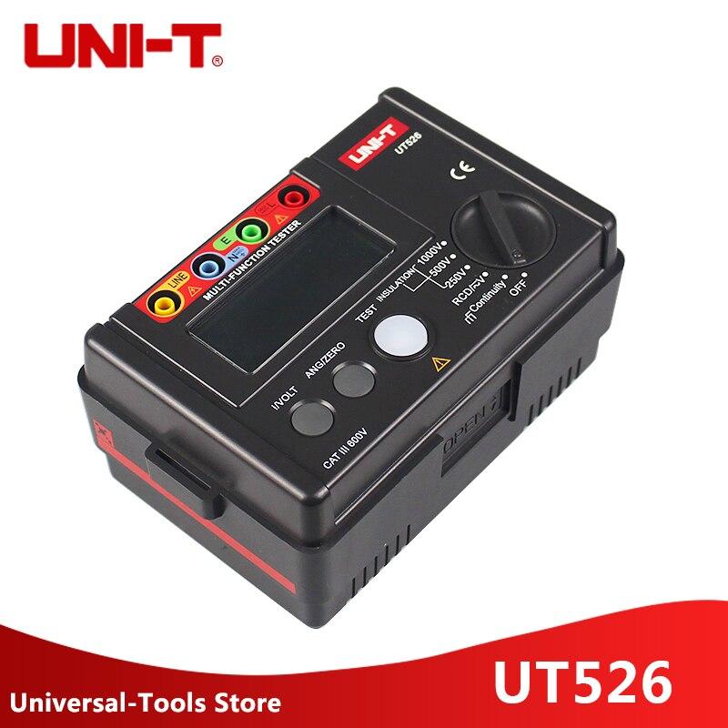UNI T UT526 Multi function digital electric meter Electrical Insulation Tester UT526 Earth Resistance Meter RCD