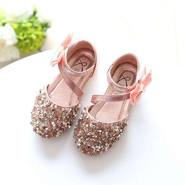 Summer PU Leather Children Girls Sandals Beach Shoes Footwear Sequin Bow  Toddler Baby Sandal Princess Kid Girls Shoes TX206 20a250bd6726