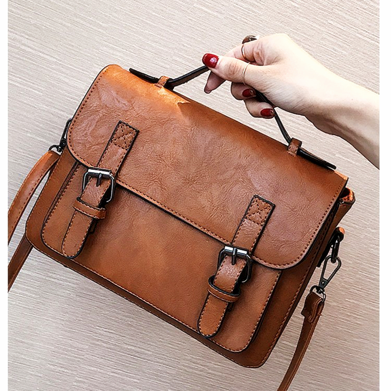 BARHEE Brand Vintage England Style Women Messenger Bags Small PU Leather Handbag Cover Satchel Post Man Forest Retro Shoulder Ba