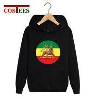 Lion of Judah Rastafari Flag Reggae Roots hoodies men 2018 Ethiopia of Judah hooded sweatshirts Funky Medusa fleece pocket hoody