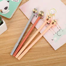 60PCS/SET Creative Cartoon Squirrel Neutral Pen Cute Learning Stationery Silicone Head Water Signature Liquid Gel