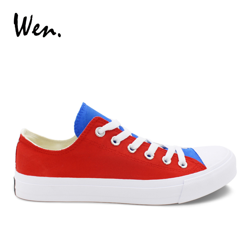 Wen Men Casual Shoes Low Top Platform Espadrilles Flat Original Design Russia Flag Hand Painted Shoes White Canvas Sneakers e lov high end design women shoes hand painted dream graffiti casual canvas flat shoe low top canvas espadrilles