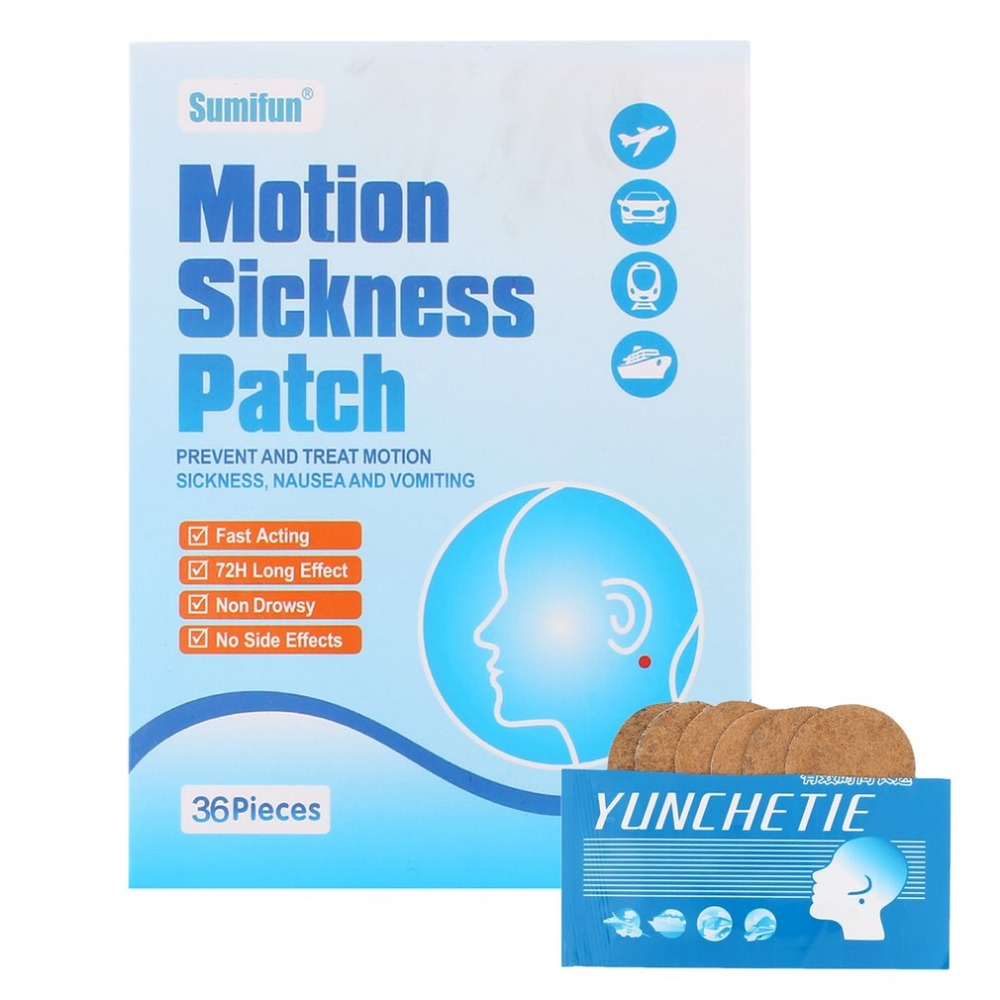 36 pcs/bag Car Motion Sickness Relief Patch Traditional Herbal Seasickness Nausea Dizzy Medical Plaster