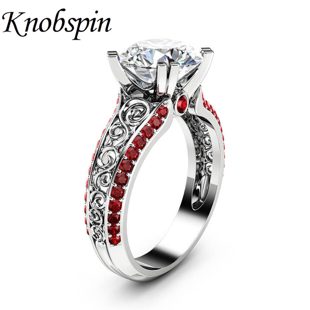 Charming Ladies Hollow Pattern AAA Zircon Ring Plated Silver/Gold Color Women Wedding Engagement Ring Jewelry Gifts Size 6-10
