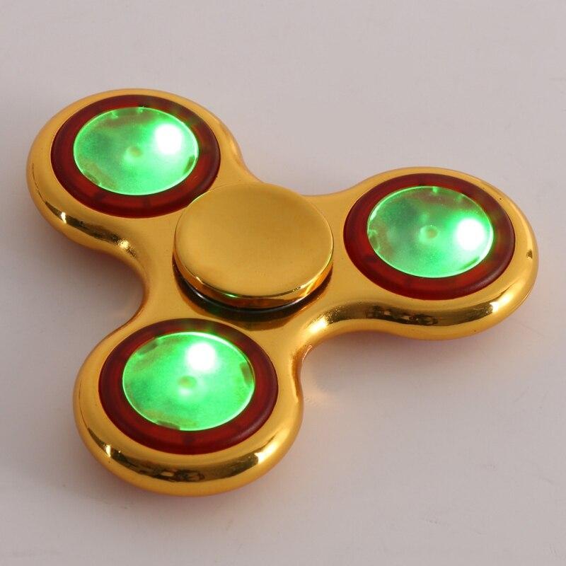 2017 Hot Shining LED Lights Hand Finger Spinner For Autism And ADHD Fidget Fingertip Spinner Children