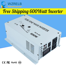 Reliable Continuous Power 600w power inverter with remote controller off grid pure sine wave  solar DC 12V 24V 48V  110v off grid pure sine wave solar inverter 24v 220v 2500w car power inverter 12v dc to 100v 120v 240v ac converter power supply