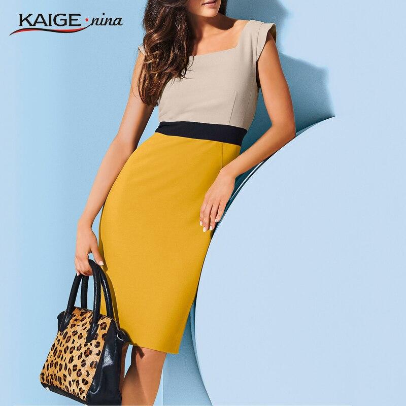 Kaige. Nina Nuevo Vestido Simple Vestido de Partido Sin Mangas de Color Puro Est