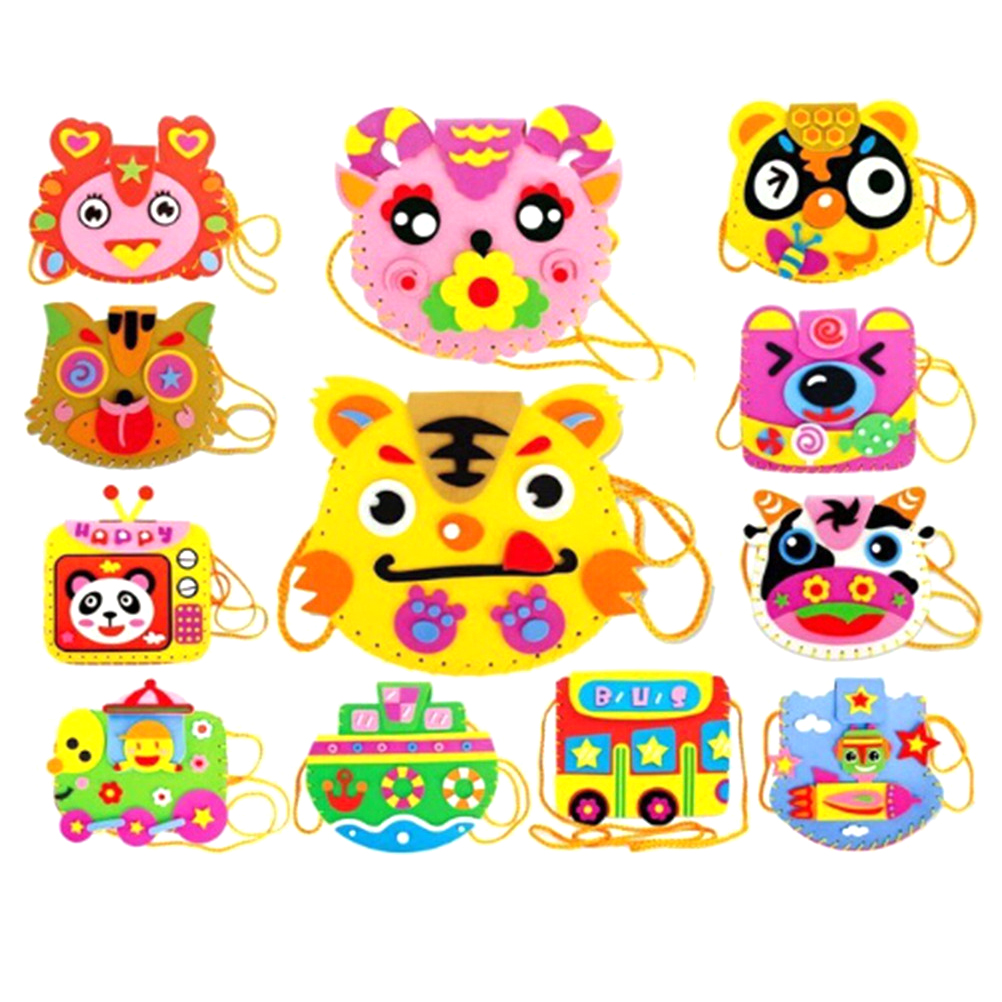Cartoon Sewing Backpacks Eva Diy Bags Cute Flower Style Bag Handmade Crafts Kids Children Creative Toys For Photo Frame Warm And Windproof