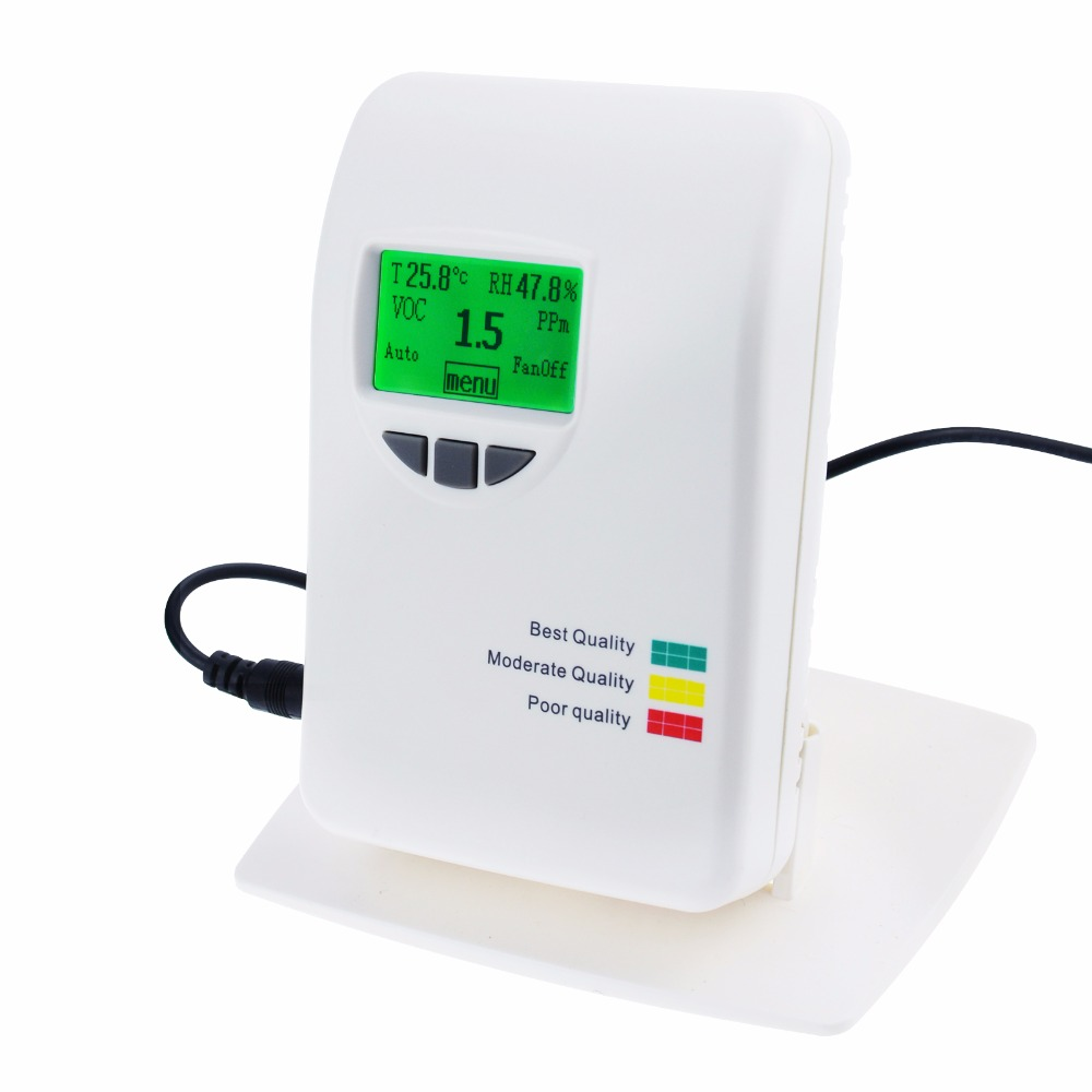 0~50ppm VOC Air Quality IAQ Meter Detector Monitor Tester Indoor for Home Type Indoor Offices Bedrooms Air Contaminants Tester indoor air quality pm2 5 monitor meter temperature rh humidity