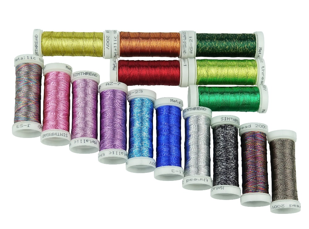 Metallic Embroidery Machine Thread With 32 Colors Bright And Not Easy To Break