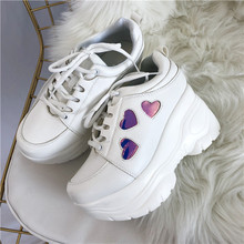 купить Japanese Lolita Sneakers Shoes Love Sweet Cute Student Princess Girl Thick bottom Shoes дешево