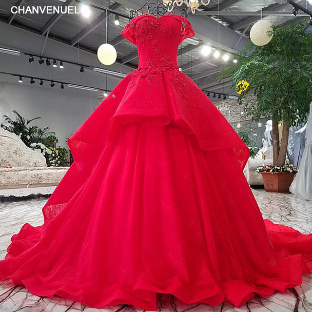 LS9884# sweetheart off the shoulder ball gown sweep train lace up ...
