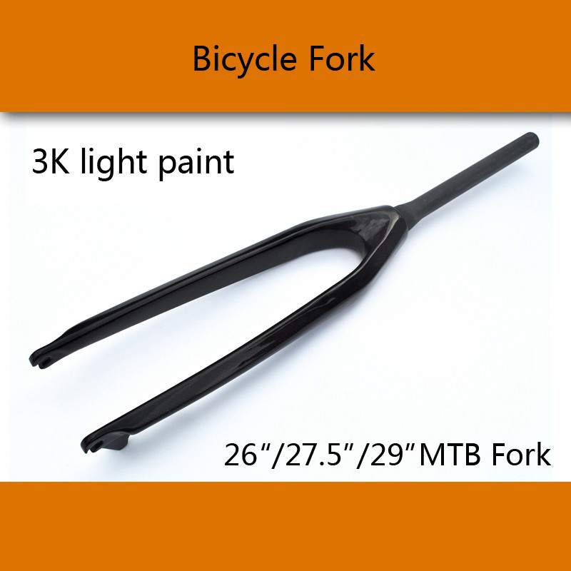 New 26 27.5 29 inch Mountain bike 3K full carbon fibre hard bicycle disc brake front fork MTB 26er 27.5er 29er parts Free ship newest raceface next sl road bike ud full carbon fibre saddle spider web mountain bicycle front seat mat mtb parts free shipping