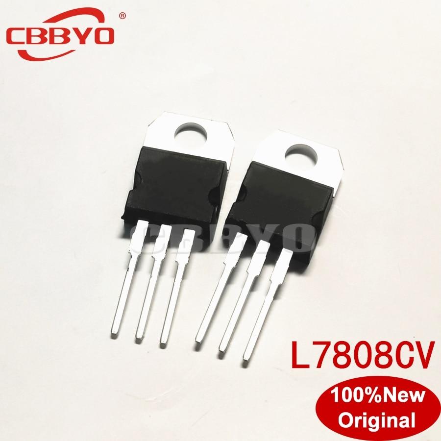 10pcs/lot New L7808CV L7808 7808 TO-220