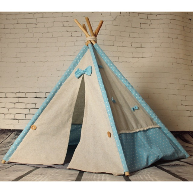 Fessyc@Personalized Canvas Pet Bed TeepeeNatural Handmade toy Pet tent - Doll & Fessyc@Personalized Canvas Pet Bed TeepeeNatural Handmade toy ...