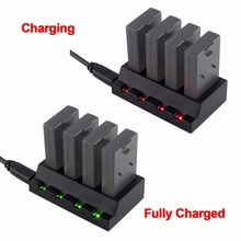 Original Chargers USB 4 Port 3.7V Battery Adapter Charger For Parrot Mini Drones Rolling Spider Drop Shipping D15